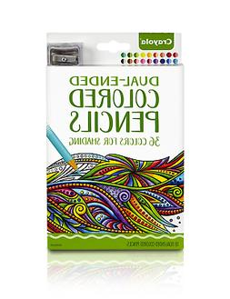Crayola Dual-Ended Colored Pencils, 36 Colors + Bonus Sharpe