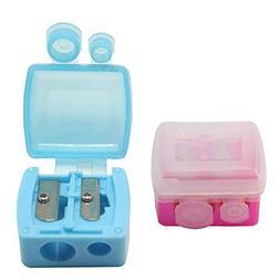 12Pcs Dual Holes Makeup Pencil Sharpeners with Matte Cover,