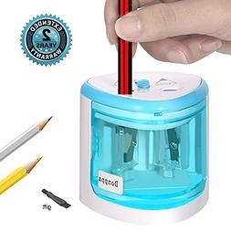 Electric Pencil Sharpener,Double A Battery Operated Heavy Du
