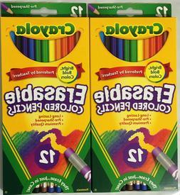Erasable Color Pencil Set, 3.3 mm, 2B , Assorted Lead/Barrel