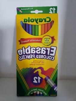 Crayola Erasable Colored Pencils 12 Pre-Sharpened Pencils -B