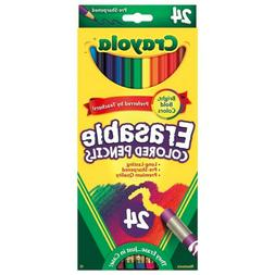 Crayola Erasable Colored Pencils, Assorted Colors, Set of 24