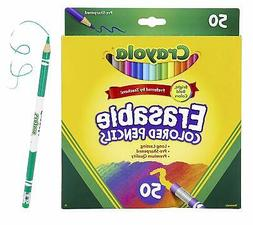 Crayola Erasable Colored Pencils Coloring Book Essentials 50