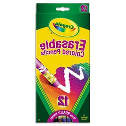 Crayola Erasable Colored Pencils, 12 Non-Toxic, Pre-Sharpene