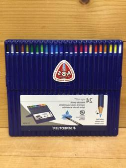 STAEDTLER ERGO SOFT 24 COLORED WATERCOLOR PENCILS ANTI BREAK