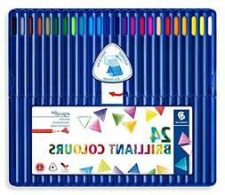 Staedtler Ergosoft Colored Pencils, Set of 24 Colors in Stan