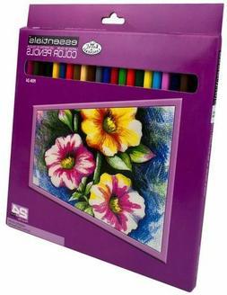 Royal & Langnickel Essentials Color Pencil Set, 24-Piece
