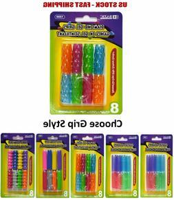 Extreme Comfort Assorted Color Shape Pencil Pen Grip 8 Per P
