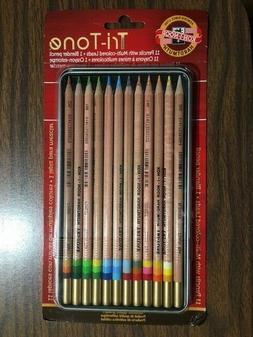 Koh-I-Noor FA33TIN12BC Tri-Tone Colored Pencil 12-Color Set