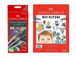 Faber Castell 12 Count Metallic Colored EcoPencils with Sket