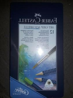 Faber-Castell FC114212 Art Grip 12 Water Color Pencil Tin