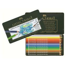 FABER-CASTELL USA 117512 WATERCOLOR PENCIL METAL TIN 12CT