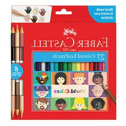 Faber Castell World Colors Colored Pencil Set, Blend to Matc