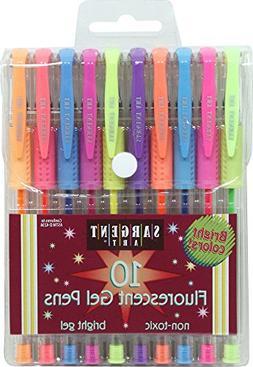 Sargent Art 22-1502 10-count Fluorescent Gel Pens