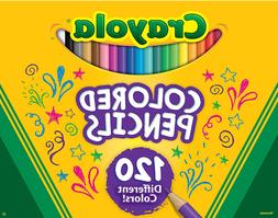 Free shipping Crayola Colored Pencils, No Repeat Colors, 120
