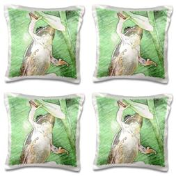 3dRose Frog digital art colored pencils - Pillow Case, 16 by