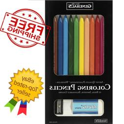 General's Woodless Colored Pencils, Assorted Colors, Set of