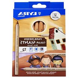 LYRA Color-Giants Colored Pencils, Unlacquered, 6.25 Millime