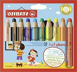 Stabilograms colored pencil Woody 3in1 10 colors 880-10