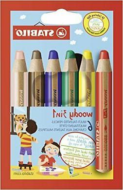 Stabilograms colored pencil Woody 3in1 6-color 8806