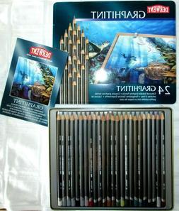 Derwent Graphitint 24 Tinted Graphite Pencils Tin - Derwent