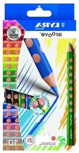LYRA Groove Child-Grip Pencils, 4.25mm Lead Core, Set of 10,