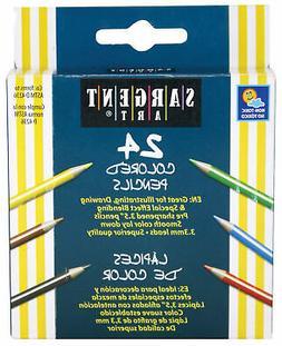 Sargent Art 22-7218 24-Count Half Size Colored Pencils