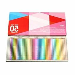Holbein Artists Pastel Tone Colored Pencils 50 Colors paper