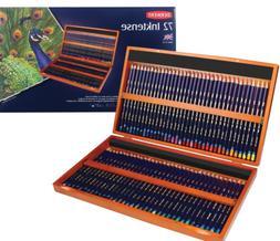 Derwent Inktense Pencils, 4mm Core, Wooden Box, 72 Count