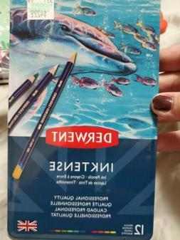 Derwent Inktense Water-Soluble Colored Pencils 12-Pack *Bran