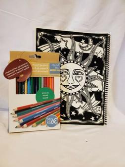 JPI Color Workshop Vivid Velvet Notebook to color w/Artist's