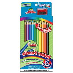 ArtSkills Jumbo Poster Colored Pencils, 10 Jumbo Tip Colored