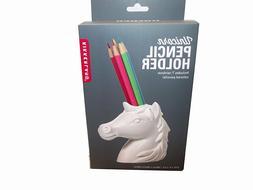Kikkerland UNICORN Pencil Holder includes 7 rainbow color pe