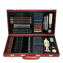 Professional Art Kit Drawing and Sketching Set 58-Piece Colo