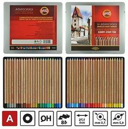 KOH-I-NOOR GIOCONDA Drawing Soft Pastel Pencils 8829 48 Colo