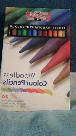Koh-I-Noor Hardtmuth Woodless Colour Pencils-24 Colors. New.