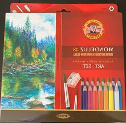 Koh-I-Noor Mondeluz Aquarell Drawing Set 48 Water-Soluble Co