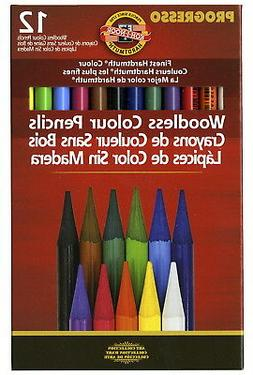 Koh-I-Noor Non-Toxic Woodless Colored Pencil Set, Assorted C