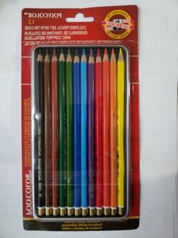 KOH-I-NOOR POLYCOLOR 12 CT. COLORED PENCILS SET WITH TIN CAS