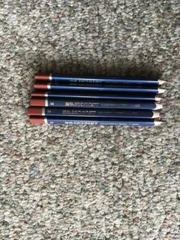 Koh-I-Noor Triocolor Colored Pencil, Brown, Pack of 6