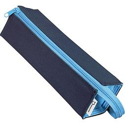 Kokuyo C2 Tray Type Pencil Case - Navy Light Blue