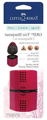 Faber-Castell 3-in-1 Grip Trio Sharpener, Blackberry