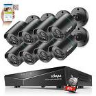 SANNCE 1080P HDMI HD-TVI 8CH / 4CH DVR IR CUT CCTV Security