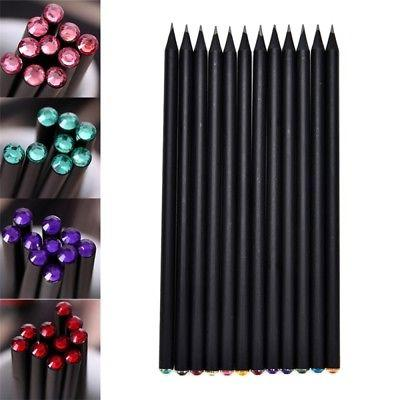 10Pcs Pencil HB Diamond Color Pencil Stationery Cute Pencils