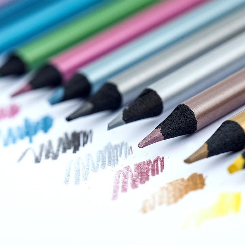 12 colors metallic color drawing pencil 12