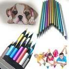 12 pcs Metallic Non-toxic Colored Drawing Pencils 12 Colors