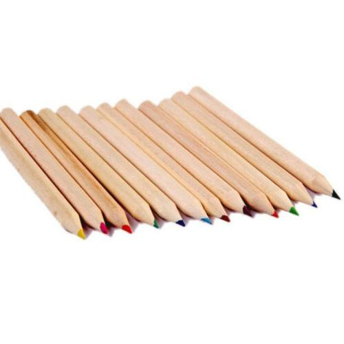 Colored Sharpener Wooden Writing Colors Pencils