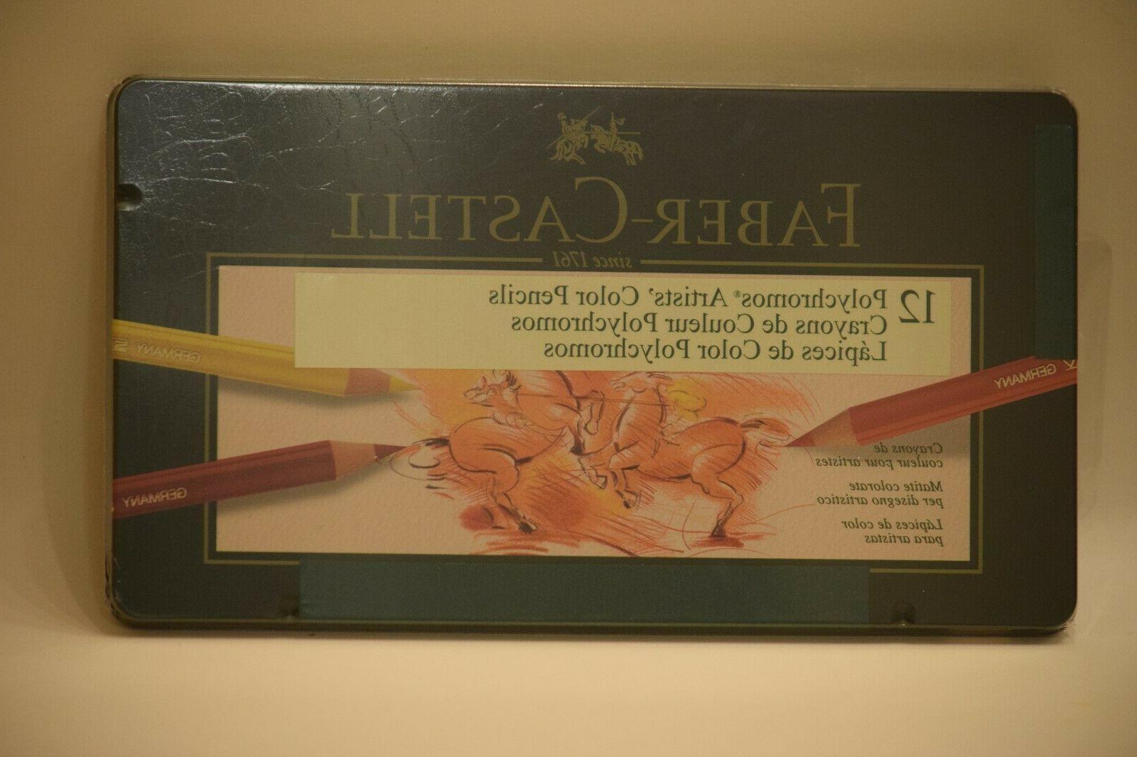 12 polychromos artists pencils tin
