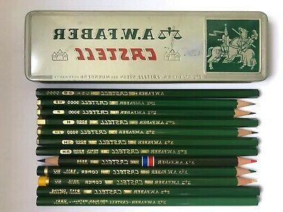 12 vintage a w faber castell pencils