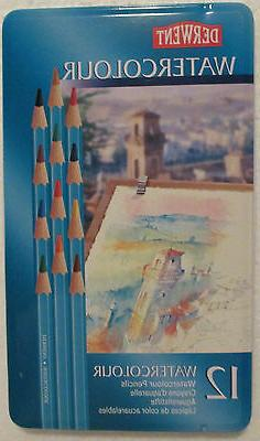Derwent 12-Watercolour Colored Pencils! Brand New Set! Just